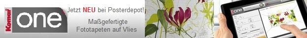 Maßgefertigte Fototapeten auf Vlies bei Komar-One online bestellen, dem Vlies-Fototapeten-Partner von Posterdepot.de!
