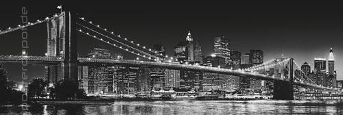 xxl poster brooklyn bridge manhattan new york br cke. Black Bedroom Furniture Sets. Home Design Ideas