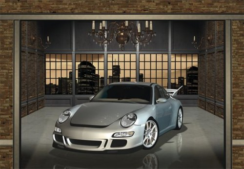 fototapete cars sportwagen porsche tuning auto wagen ebay. Black Bedroom Furniture Sets. Home Design Ideas