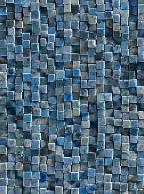 vliestapete mosaik blau grau steinwand fliesen optik 200 x 270 cm 4 teilig ebay. Black Bedroom Furniture Sets. Home Design Ideas