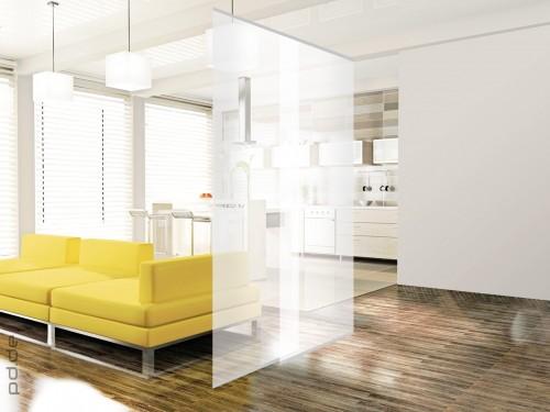 deco home raumteiler twin set silver transparent silber. Black Bedroom Furniture Sets. Home Design Ideas