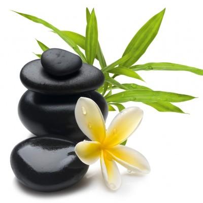 glasbild hot stones hei e steine warmsteinmassage wellness. Black Bedroom Furniture Sets. Home Design Ideas