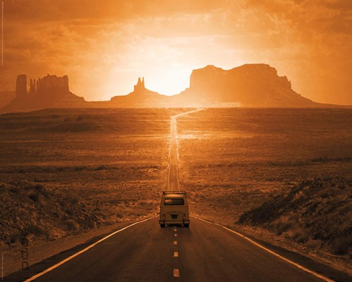 poster route 66 monument valley usa stra e w ste. Black Bedroom Furniture Sets. Home Design Ideas