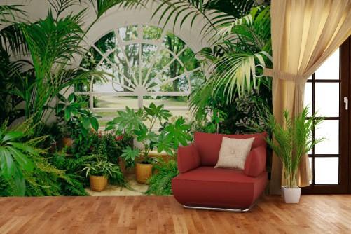 fototapete klassischer wintergarten mit pflanzen bild 4. Black Bedroom Furniture Sets. Home Design Ideas