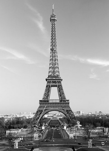 fototapete eiffelturm in paris. Black Bedroom Furniture Sets. Home Design Ideas