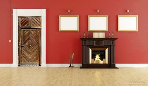 selbstklebende t rtapete alte holzt r mit diagonalem muster. Black Bedroom Furniture Sets. Home Design Ideas