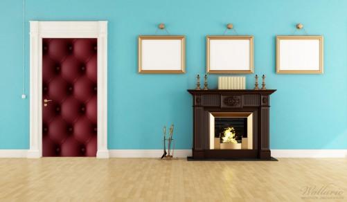 wallario selbstklebende premium t rtapete rotes leder optik kn pfe 93x205 cm ebay. Black Bedroom Furniture Sets. Home Design Ideas