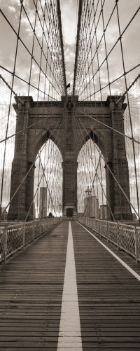 glasbild brooklyn bridge in new york. Black Bedroom Furniture Sets. Home Design Ideas