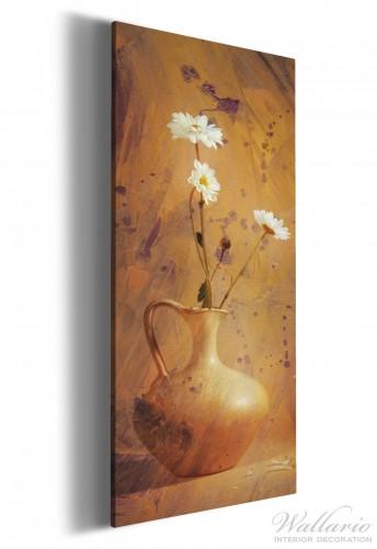 leinwandbild antike vase mit blumen. Black Bedroom Furniture Sets. Home Design Ideas