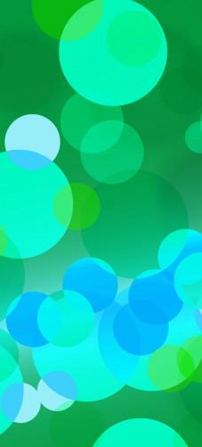 Selbstklebende Tapeten Schweiz : Selbstklebende T?rtapete Gr?ne und blaue Kreise – harmonisches