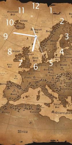 uhr alte weltkarte karte von europa in englisch. Black Bedroom Furniture Sets. Home Design Ideas