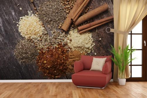 vliestapete aromatische trockene gew rze in der k che. Black Bedroom Furniture Sets. Home Design Ideas