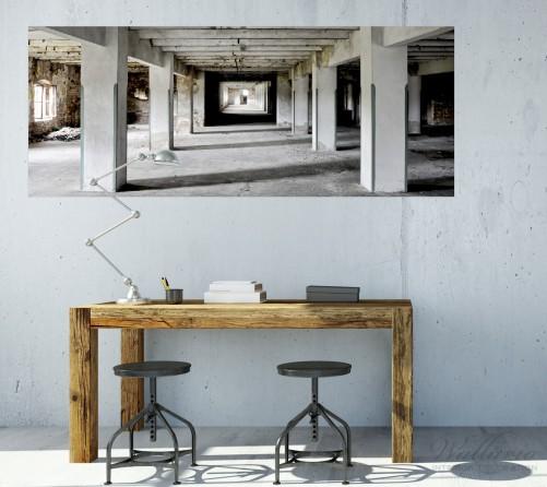 poster alte industriehalle im kellergeschoss einsame lagerhalle einer brauerei. Black Bedroom Furniture Sets. Home Design Ideas