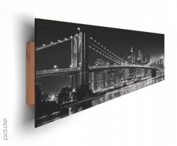 Deco Panel New York - Brooklyn Bridge black & white – Bild 2