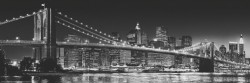 Deco Panel New York - Brooklyn Bridge black & white – Bild 1
