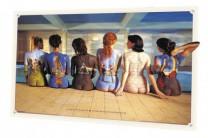 3D Poster Pink Floyd - back catalogue - Plattencover auf Frauenrücken [35/1]