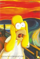 Poster Homer Simpson - Scream
