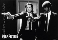 Poster Pulp Fiction b/w