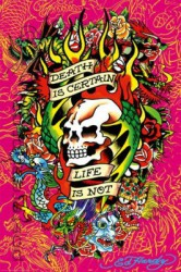 Poster Ed Hardy - death is certain – Bild 1