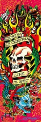 Poster Ed Hardy - death is certain