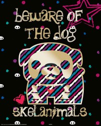 Poster Skelanimals - beware of the dog