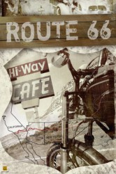 Poster Route 66 - Map