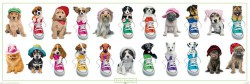 Poster Keith Kimberlin - dogs with hats and sneakers – Bild 1