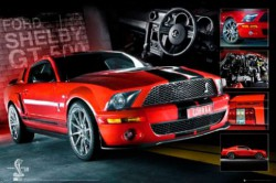Poster Easton - Red Mustang