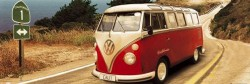 Poster VW Californian Camper - route one