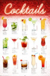 Poster Cocktails - english
