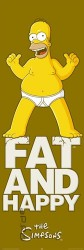 Poster Simpsons - fat and happy