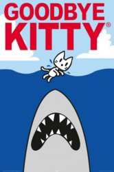 Poster Goodbye Kitty - shark