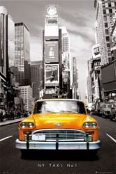Poster New York - Yellow Cab Front (NY Taxi No 1)