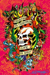 Poster Ed Hardy - death is certain – Bild 2