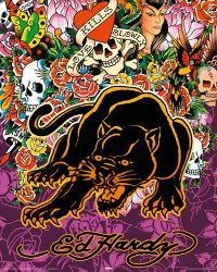 Poster Ed Hardy - Black Panther - Mini