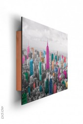 Deco Panel Manhattan - coloured skyline – Bild 2