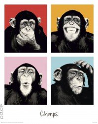 Deco Panel The Chimp - pop – Bild 1
