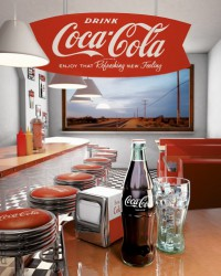 Deco Panel Coca-Cola - diner – Bild 1