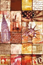 Poster New York patchwork
