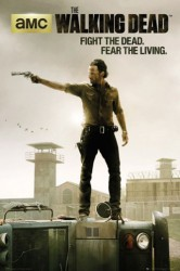 Poster The Walking Dead - Rick Grimes mit Revolver