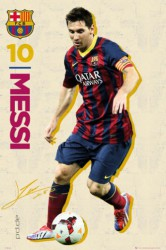 Poster Barcelona Lionel Messi in Aktion