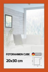Fotorahmen Holzprofil Top Cube orange