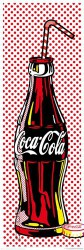 Poster Coca Cola Pop-Comic Stil