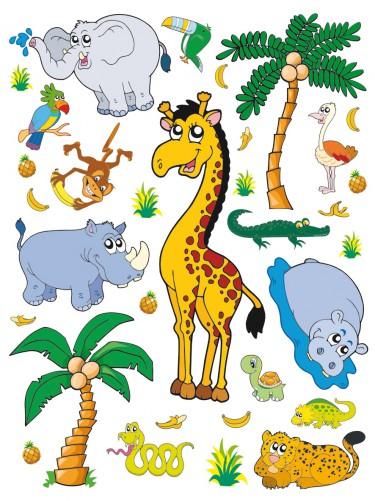 Wandsticker Kinderzimmer Ikea ~ Wandsticker Dschungeltiere fürs Kinderzimmer [38 3]