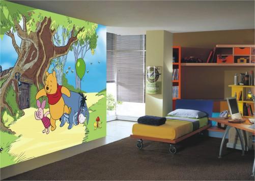 Kinderzimmer Tapeten Winnie Pooh : Fototapete Winnie Pooh mit Freunden ? Bild 1
