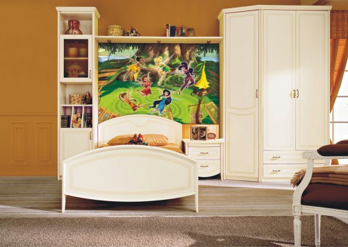 fototapete tinkerbell feen auf der lichtung. Black Bedroom Furniture Sets. Home Design Ideas