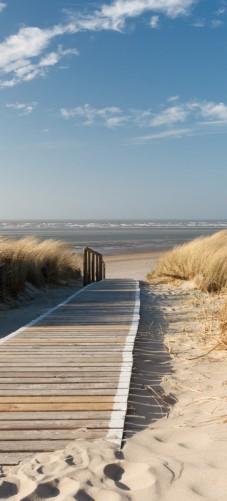 Selbstklebende Tapete Entfernen : Selbstklebende T?rtapete Auf dem Holzweg zum Strand