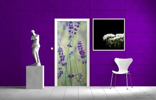 Selbstklebende Tapete Lila : Selbstklebende T?rtapete Lila Blumenfreude ? Bild 2