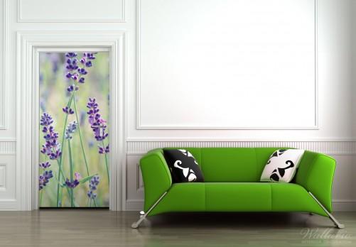 Selbstklebende Tapete Lila : Selbstklebende T?rtapete Lila Blumenfreude ? Bild 3