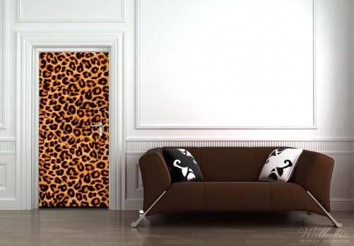 Selbstklebende Tapete Entfernen : Selbstklebende T?rtapete Leopardenmuster ? Bild 3